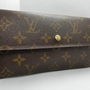 LOUIS VUITTON Monogram Portefeuille Sarah Wallet